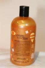 Philosophy New Cozy By The Fire Shampoo Shower Gel Bubble Bath Usa Made 16 fl oz