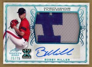 2020 Leaf Trinity RC Autograph Patch SP #d 75/75- Bobby Miller - LA Dodgers!