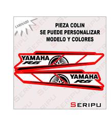 X2 PEGATINAS COLIN  YAMAHA R6  STICKERS MOTO VINILO SERIGRAFIADA TUNING ADESIVO