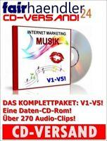 CD-VERSAND Internet Marketing Musik V1-V5 - 272 MP3s Werbung Audio Clips CD-Rom