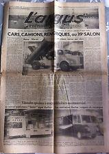 2e cahier de L'Argus du 09/10/1952; Cars, Camion, Remorques au 39e Salon