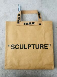 "VIRGIL ABLOH x IKEA ""Sculpture"" Markerad  Tote Bag Small OFF WHITE STYLE"
