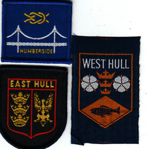 Boy Scout Badges HUMBERSIDE County+ Ext EAST + WEST HULL Districts