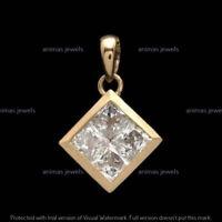 Details about  /1.50 Carat 14K Yellow Gold D//VVS1 Trillion Cut Diamond Solitaire Pendant Only