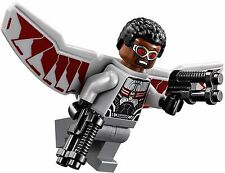 LEGO Marvel Super Heroes FALCON MINIFIGURE AUTHENTIC NEW w/ Red Wing Drone 76050