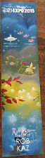 New listing 2015 D23 Expo Exclusive Disney Fine Art Promo Card Bookmark Mickey Mouse Rob Kaz