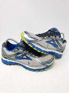 RARE Brooks Adrenaline GTS 15 Mens Sz 12.5 D Silver Blue Running Shoes FAST SHIP