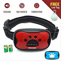 QOUKETT Bark Collar, No Barking Control Device Humane Dog Training Collar For Sm