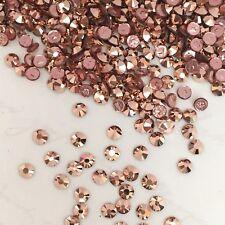 Swarovski Crystal Hotfix 250 X Ss8 Rose Gold Metallic Rhinestones Diamantes Tiny