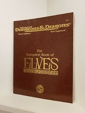 The Complete Book of Elves, Advanced Dungeons & Dragons 2nd Ed. (AD&D), RPG