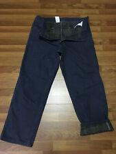MENS 42 x 32 - Carhartt B111 Duck Flannel Lined Work Pants Made USA Petrol Blue