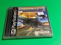 🔥 SONY PS1 PlayStation One PSX 🔥 ACE COMBAT 3 - RARE SHUMP 💯 COMPLETE GAME