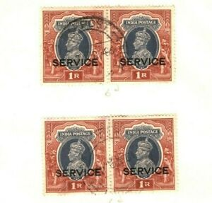 INDIA KGVI Stamps {9} HIGH VALUES Service Overprint Page ex Collection MA989