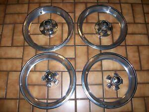 "1970s Chrysler, Dodge, Plymouth C-Body Truck 15"" Rally Wheel Center Caps & Rings"