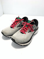 Brooks Womens Ghost 11 1202771B192 Pink Gray Running Shoes Lace Up Size 6 B