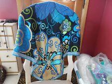 Vera Bradley Mod Floral Blue silk scarf NWOT