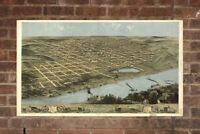 Vintage Omaha Print, Aerial Omaha Photo, Vintage Omaha NE Pic, Old Omaha Photo,