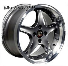 17 x8 inch anthracite Ford Mustang Cobra R OE replica wheels 4x108 4x4.25 +15