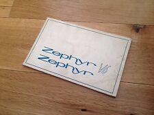 zephyr v6 Ford .Rare Hand Book , Instruction book Classic Car . Cheap.