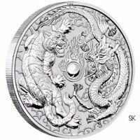 2018 Dragon & Tiger 1 oz Silver Half Role