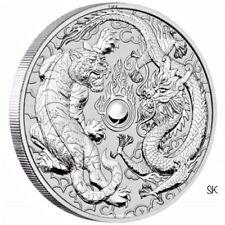 2018 Dragon & Tiger 1 oz Silver BU Coin