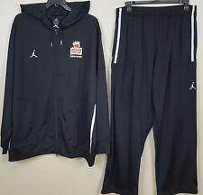 JORDAN CLEMSON TIGERS FOOTBALL ORANGE BOWL SUIT HOODIE + PANTS BLACK (SIZE 3XL)