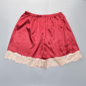 Lace Nightwear Anti-Static Pettipants Satin Bloomers Panties Short Lingerie
