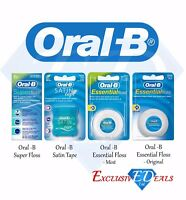 Oral B Dental Floss - Satin Tape, Essential Floss, Super-Floss - Pick Your Item