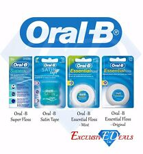 Oral B Dental Floss - Satin Tape, Essential Floss, Super-Floss - Pick Your Item