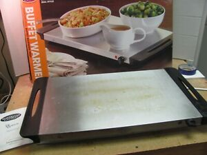 Nostalgia Electrics Stainless Steel Buffet Warmer Warming Tray in Box - Tested!