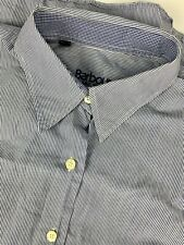 Barbour Striped Lightweight Womens Button Front Shirt sz 12 Blue White