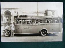 Copenhagen Denmark - 1930s City Tour Bus - antique RPPC