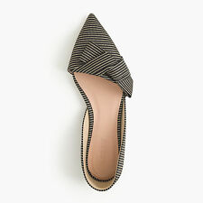 New With Box J.Crew 'Sloan Striped d'Orsay Flats with Obi Bow' 6