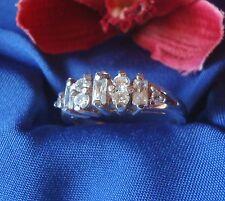 Schöner Ring aus 925 Silber mit Steinchen Fingerring Silber / Art. gg 099