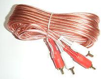 Autoleads de Phono RCA Plomo extensión 3m 300cm CAR AUDIO AMP instalar cable - 01-130