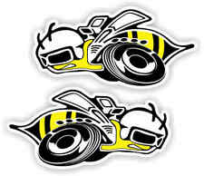 "Super Bee Car styling emblem vinyl car sticker decal  3"" Pair"
