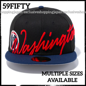 New Era 59Fifty Washington Wizards Cap NBA Cursive Fitted Hat Unisex Men Women