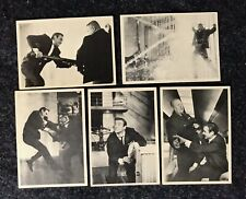 1965 Gildrose James Bond Trading Card Lot #60 61 63 64 & 66 Goldfinger