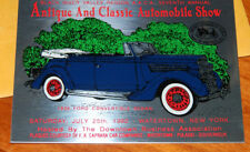 1992 Antique & Classic Automobile Show Black River Valley Watertown NY Plaque