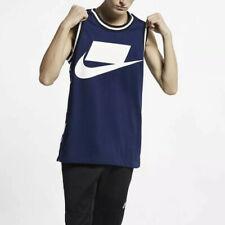 Nike Sportswear Checkered Printed Tank Top Sz Xxl Tall Ar1636-492 Blue/whit New