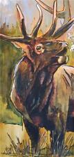 Ed Anderson Elk Bugle Giclee on Canvas 60 x 30