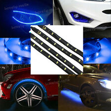 "24"" LED Wheel Eyebrow Neon Glow  Strip Lights Fender Lamps Under Car For Nissan"