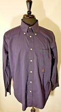 Tommy Hilfiger Mens Casual Shirt Large 80s 2 ply fabric Long Sleeve Navy Blue L