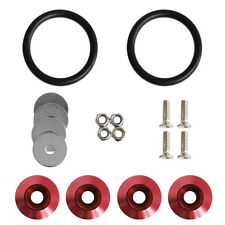 New Red Car Quick Release Fasteners Kit For Car Bumpers Trunk Fender Hatch Lids