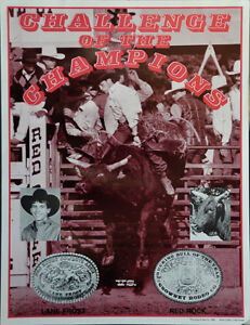 Original 1988 Challenge of the Champions, Lane Frost and Red Rock, Poster