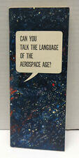 1963 Usaf Recruiting Can You Talk the Language of the Aerospace Age? Booklet!