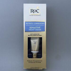 RoC Retinol Correxion SENSITIVE Skin Night Cream 1 oz / 30 ml NEW SEALED
