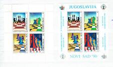 Jugoslawien - Schacholympiade 1990 (postfrisch / ** / MNH) Block 38 + 39