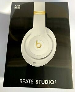NIP Beats by Dr. Dre Studio 3 Wireless Bluetooth Head Phones (White) Authentic!