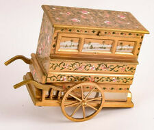 Beautiful Hand Etched Fred Zimbalist Organ Cart Thoren's Music Box